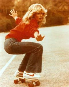 Farrah-Fawcett-on-skates