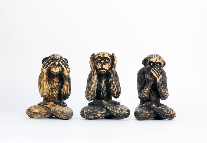 See, Hear, Speak No Evil, Carved Monkies